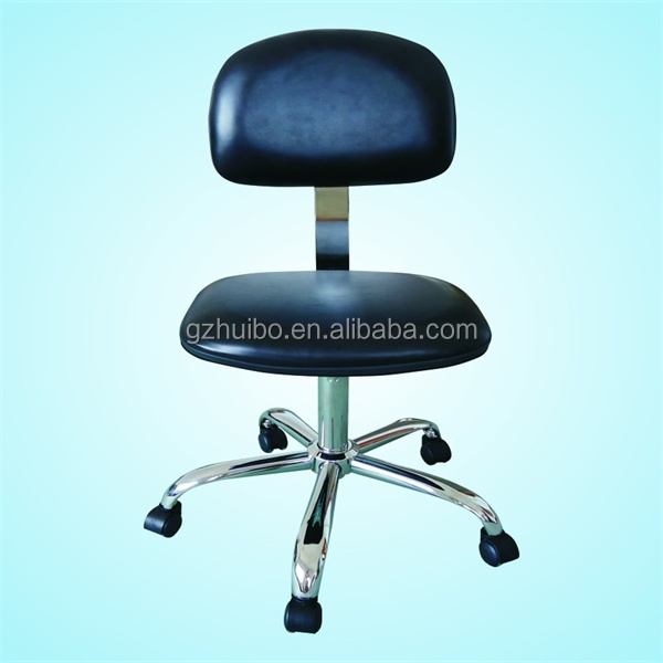 ESD vinyl chair with soft ESD no-marking castors