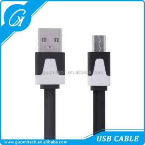 Flat noodle 1M/2M/3M Micro USB Data Sync Power charger cable