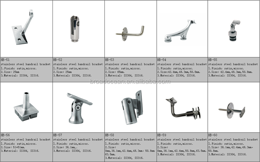 China Supplier Stainless Steel Wall Mounted Handrail Bracket (HB 06 )