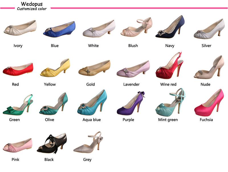 22 สีขายส่งเจ้าสาวรองเท้าแต่งงานสีขาว