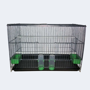 Hot sale canary bird cage breeding bird cages 2 bowls galvanized bird cage