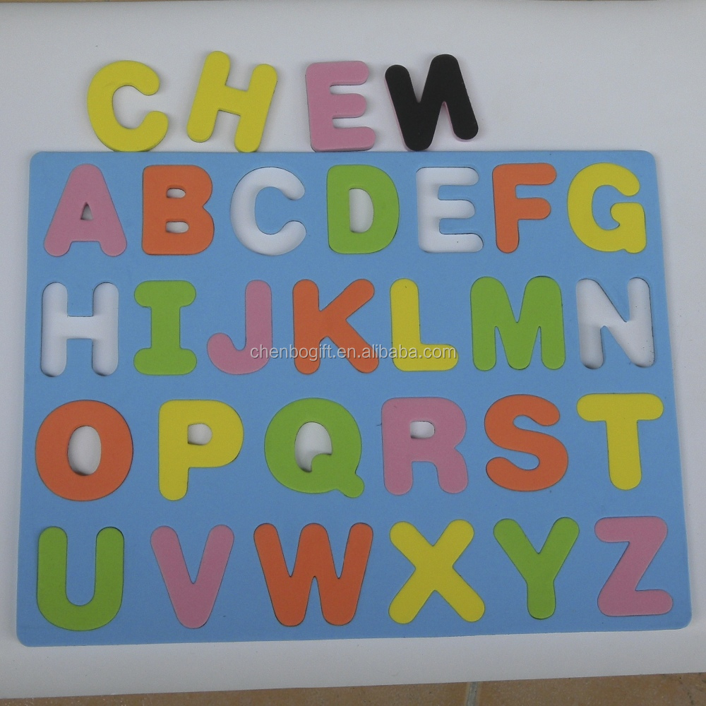 Custom made magnetic eva foam alphabet puzzle magnetic english letters educational puzzle for kids