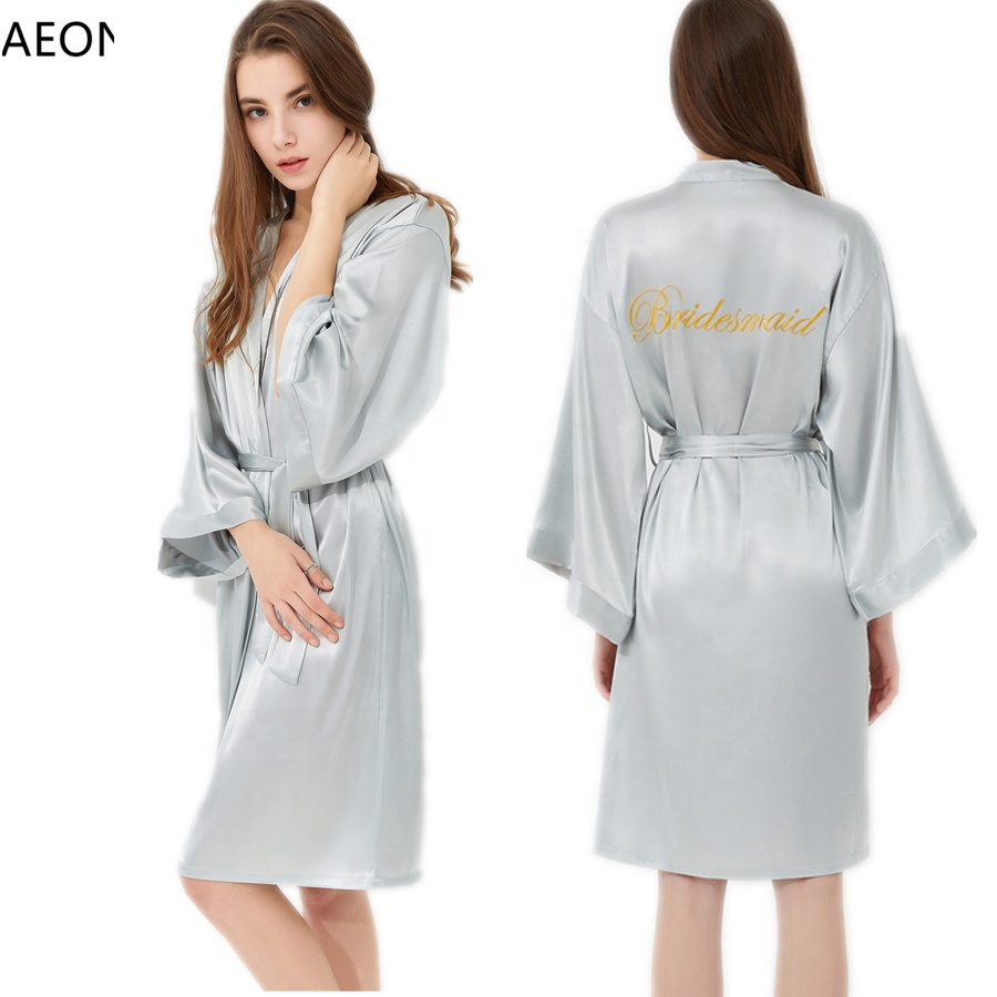 Inventive 2-14y New Kids Robes Kimono Bathrobes For Girls Child Satin Silk Night Gown Purple Flower Sleepwear Bridesmaid Party Robe 8color Let Our Commodities Go To The World Robes