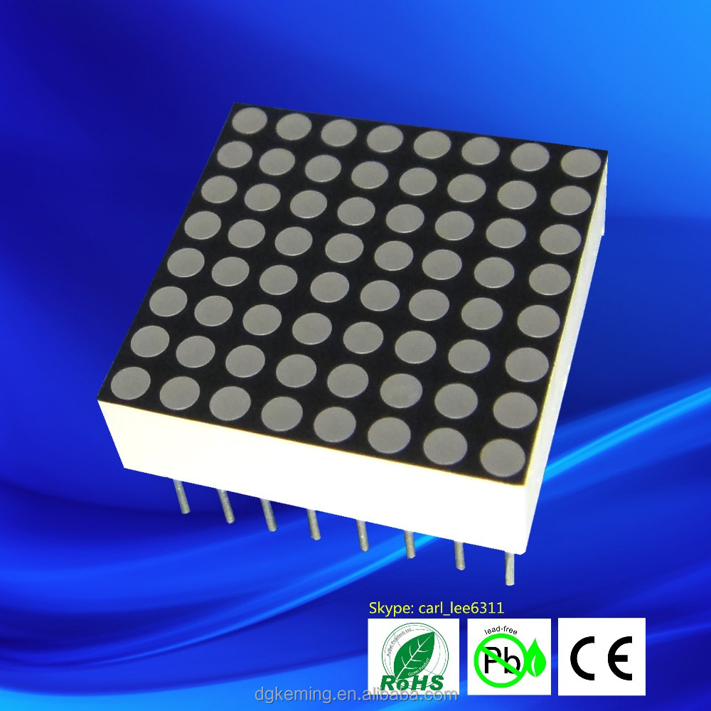 Led Dot Matrix 20x20mm 8x8 Dot Matrix Led Display Red/blue/green/white -  Buy 8x8 Dot Matrix,20x20mm Dot Matrix,8x8 Dot Matrix Led Display Product on
