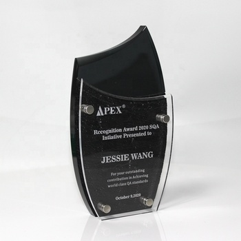 Free design black acrylic awards and trophies