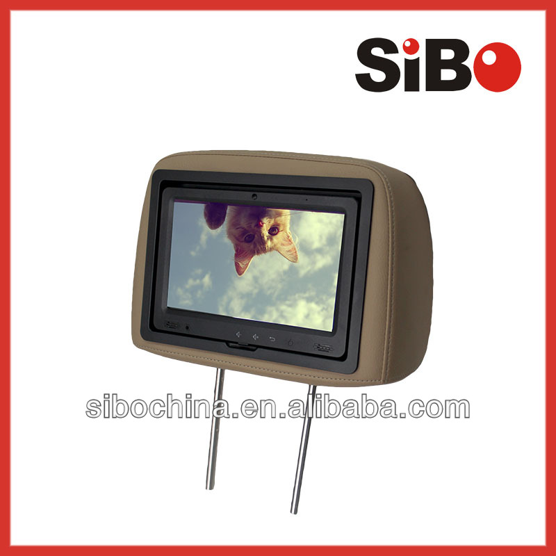 9 Inch Car Headrest Monitor With Content Management System, Server