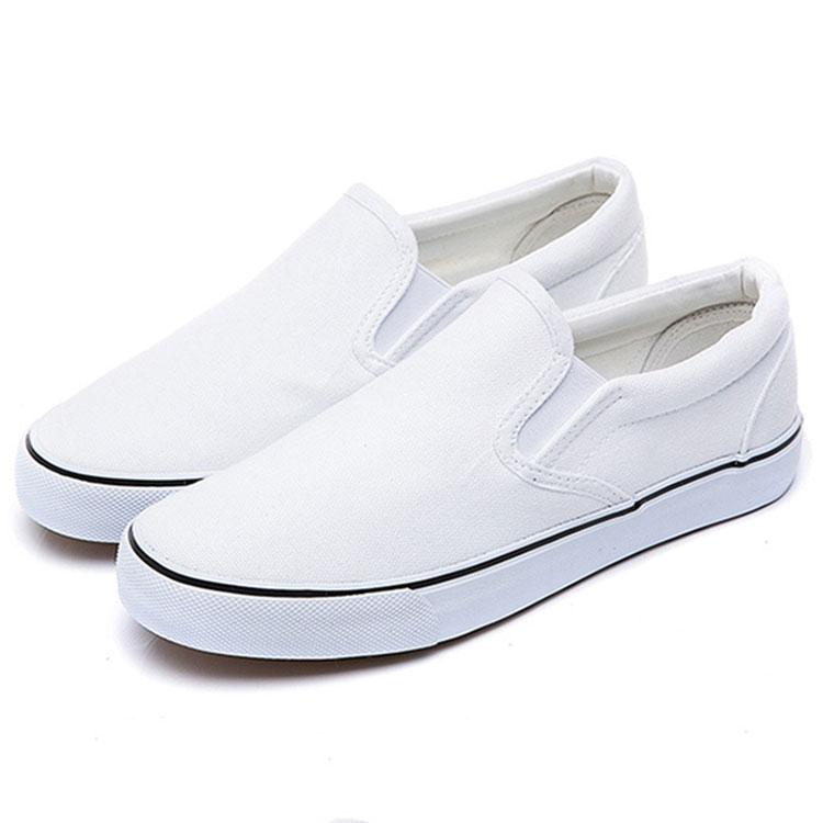 White Sneakers Canvas Shoes Men