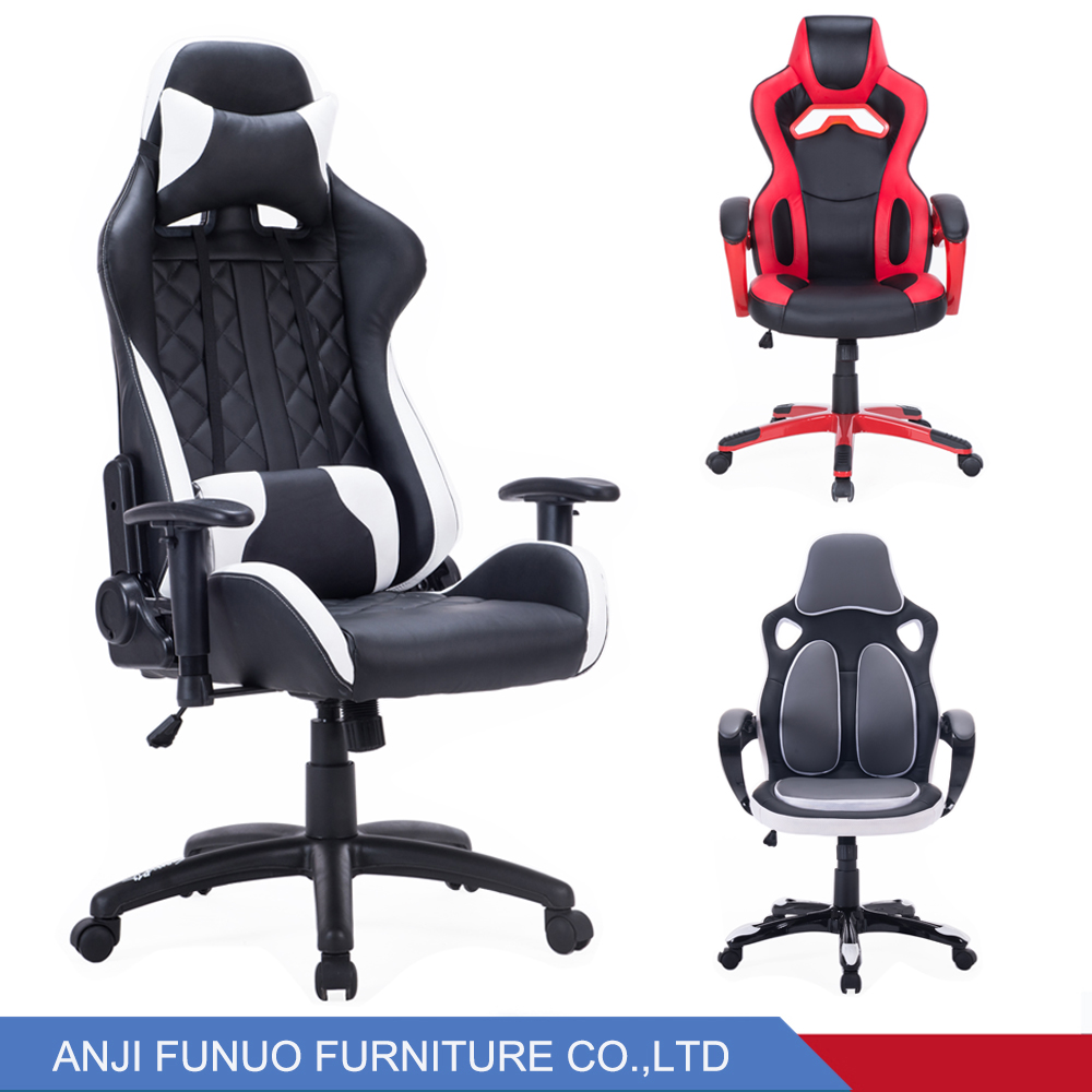 Cheap gaming chair computer chair gaming racing pu office chair anji