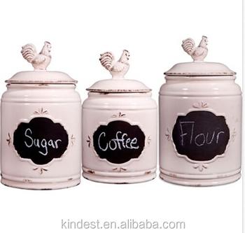 Lfgb Fda Ceramic Tea Coffee Sugar Canisters