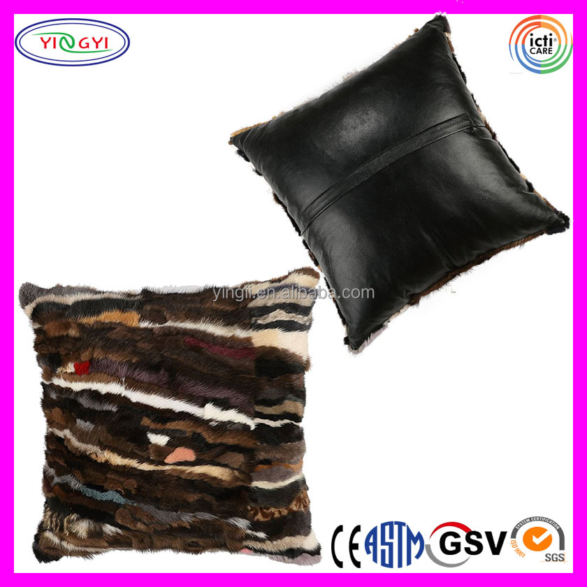 home throws black faux fabric astra house cushions pillow and fur fashion