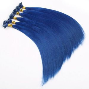 Best Selling No Tangle No Shedding Silk Straight Blue Hair