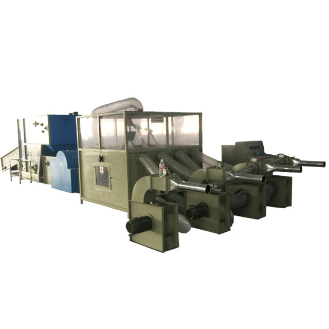 QY-900 Full Automation Fiber Pillow Filling Production Line  Pillow Foam Filling Machine
