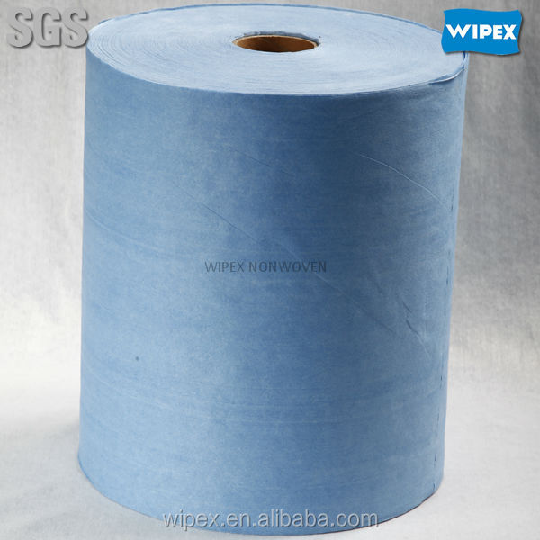 Cleaning floor wipers premium quality spunlace nonwoven action wiper rolls for machine cleaning