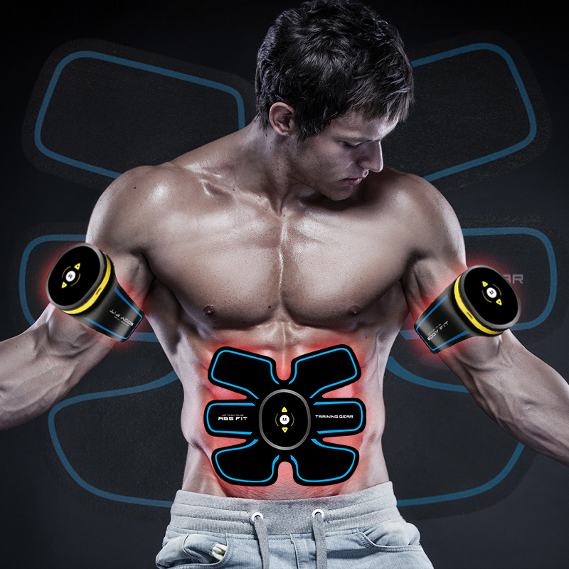 EMS fitness muscle trainer Electronic Muscle Training Belt AB Abdominal Stimulation Toning <strong>Massager</strong>