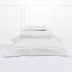 Best Selling 200 Thread Count Double Bed Poly Cotton Flat White Sheets For Hotel