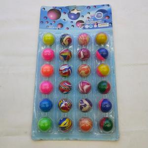 new design figure paper card rubber bouncing ball