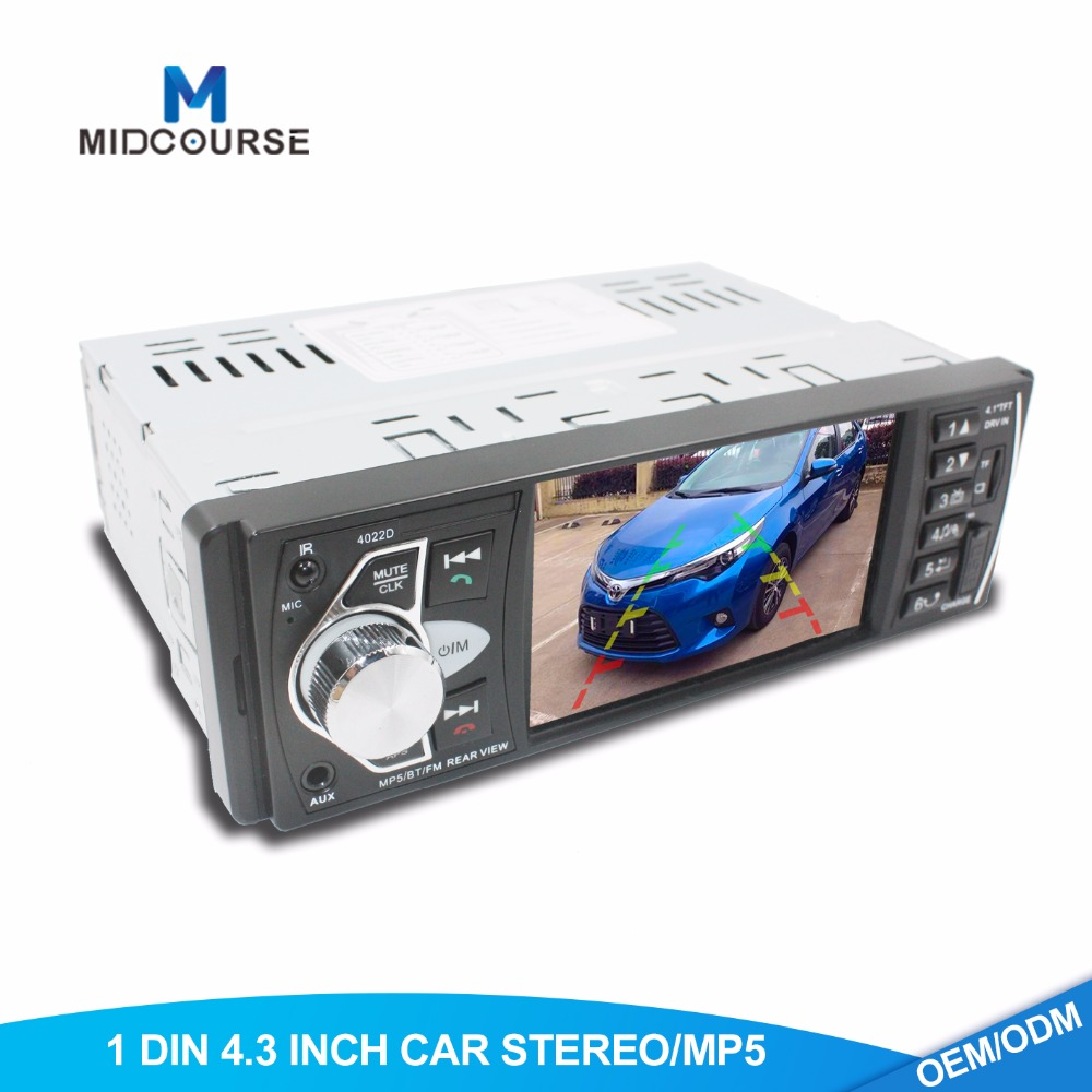4.3 Inç Araba MP3 MP4 MP5 Çalar Araba FM USB SD BT RDS Radyo