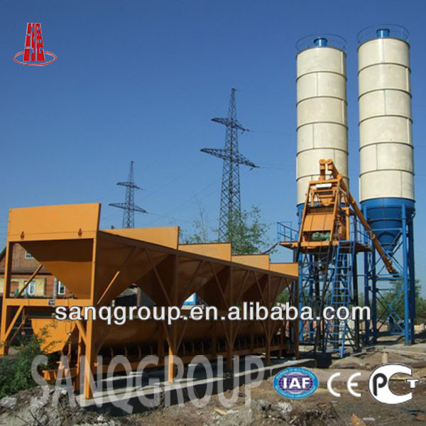 HZS50 50 m3/h Cement Plant Hopper Type