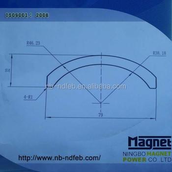 Arc Segment Neodymium Ndfeb Magnet For Motor Turbine Rotor ...
