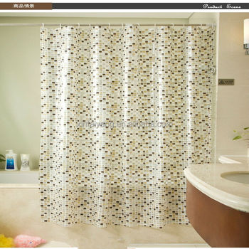 Mosaic Mildew Resistant PVC Shower Curtain Design