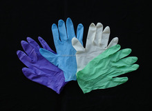 latex and nitrile black gloves