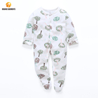 Wholesale Price Footed Baby Romper Pajama Sleeper Organic Cotton Baby Clothes