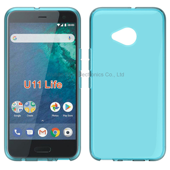 Clear transparent tpu soft case for HTC U11 Life back cover