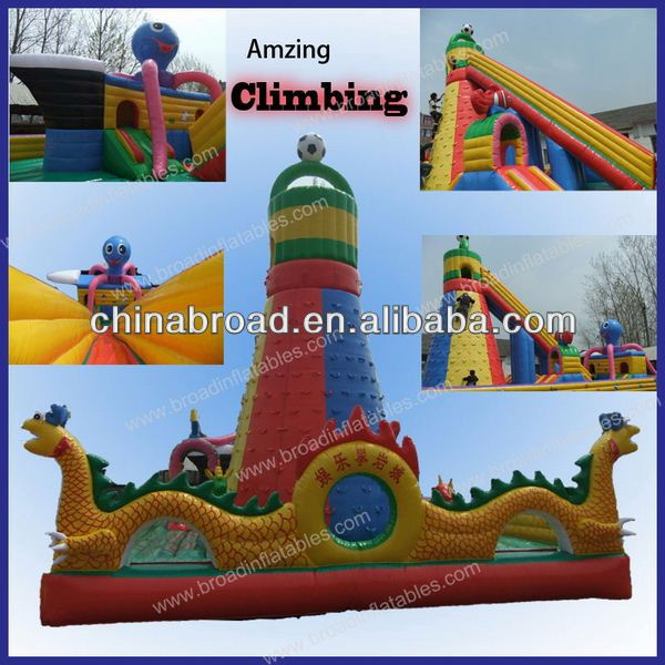funny and cheap outdoor slide for kids inflatable adrenaline rush extreme