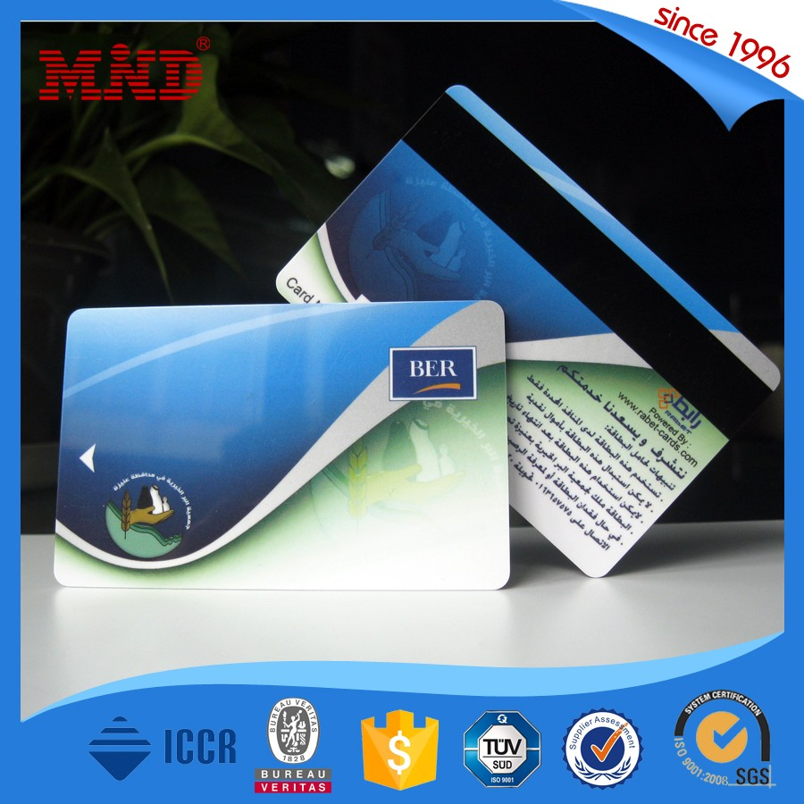 OEM chip magnetic strip white signature strip pvc card