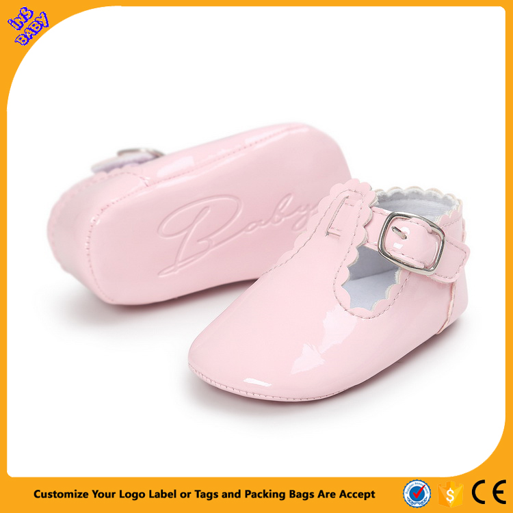 Wholesale Leather European Cute Baby Girls Shoes