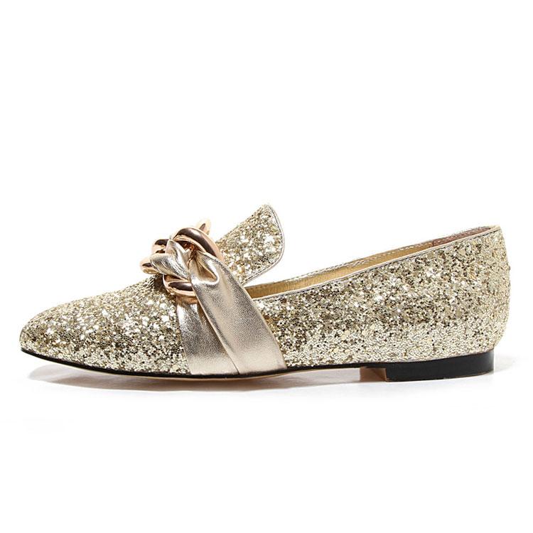 shoes casual women gold boat shoe luxurious flat 48zqAww