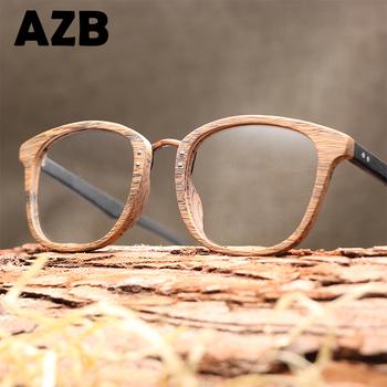 Azb 2017 Bamboo Acetate Retro Glasses Myopia Vintage Optical Glasses ...