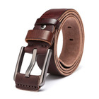 Wholesale Mens Brown Italian Genuine Cow Leather Casual Jean Belt with Pin Buckle