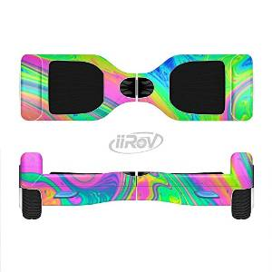 The Neon Color Fushion V3 Full-Body Wrap Skin Kit for the iiRov HoverBoards and other Scooter (HOVERBOARD NOT INCLUDED)