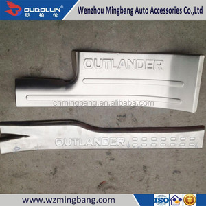 STAINLESS STEEL illuminated Protector Panel Inner Door Sill Scuff Plate for 2014 Mitsubishi Outlander
