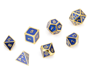 2018 Top Sell 7pc Antique Metal Polyhedral Dice Gaming Role Playing Games With Bag Party Outdoor Dice