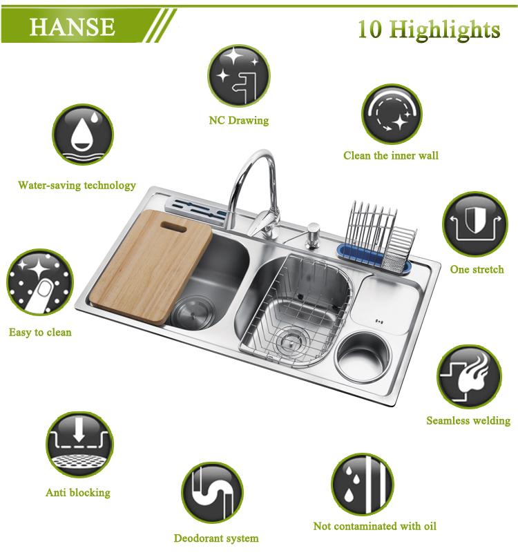 3 compartment kitchen sink undermount sink stainless steel - Undermount 3 compartment kitchen sinks ...