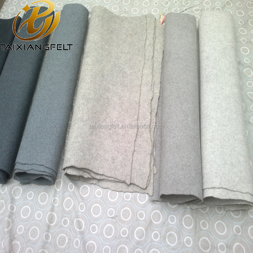 Air Spinning 100% Pure Wool Felt Fabric/Wool Fabric Sheets/Wool Fabric Rolls