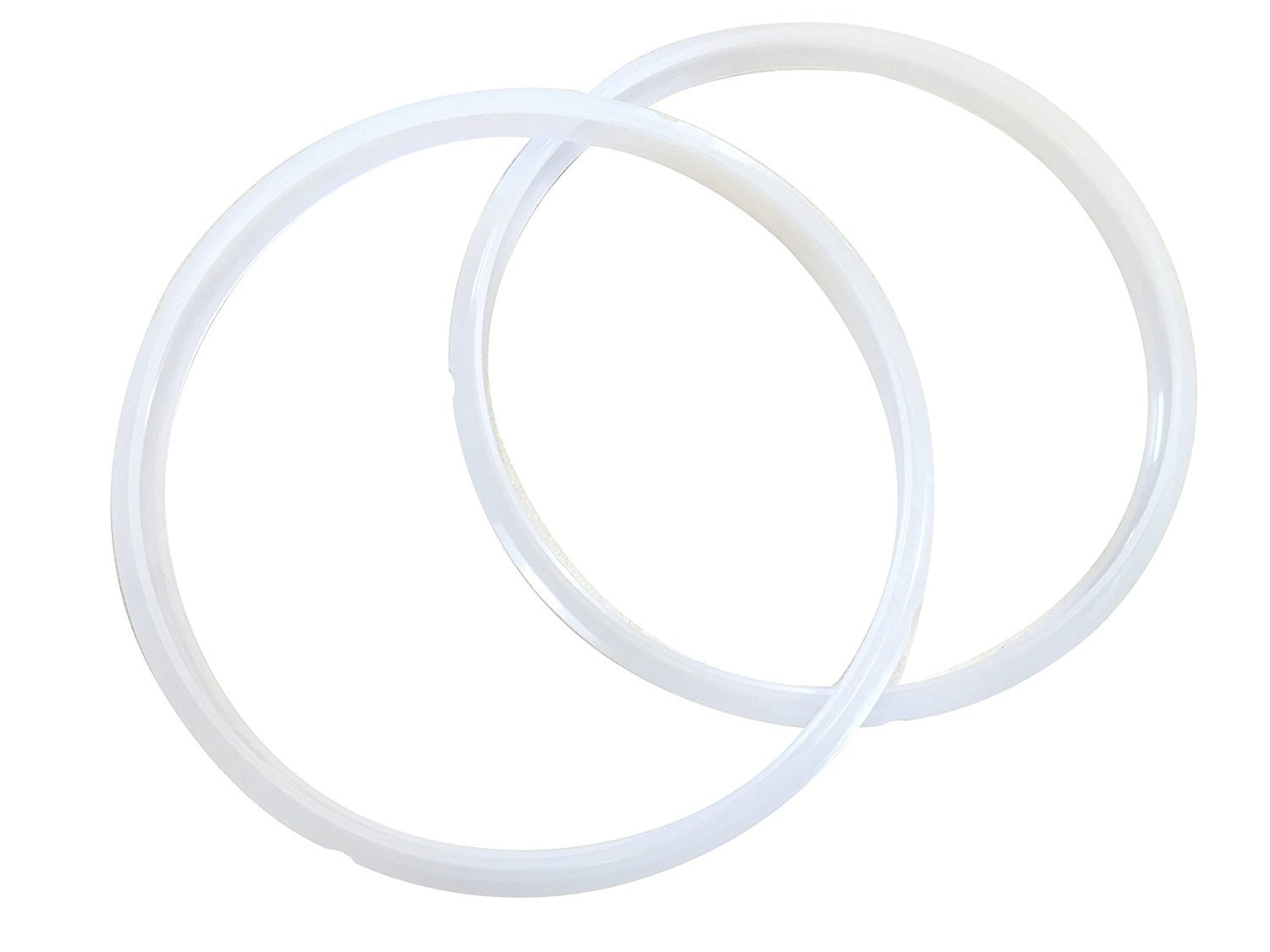 Crock Pot Express Sealing Ring Gaskets, 2 Pack, 6 Quart, Model SCCPPC600-V1, Clear