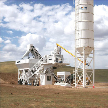 Portable concrete mix plant with chassis that can be moved from one size to another