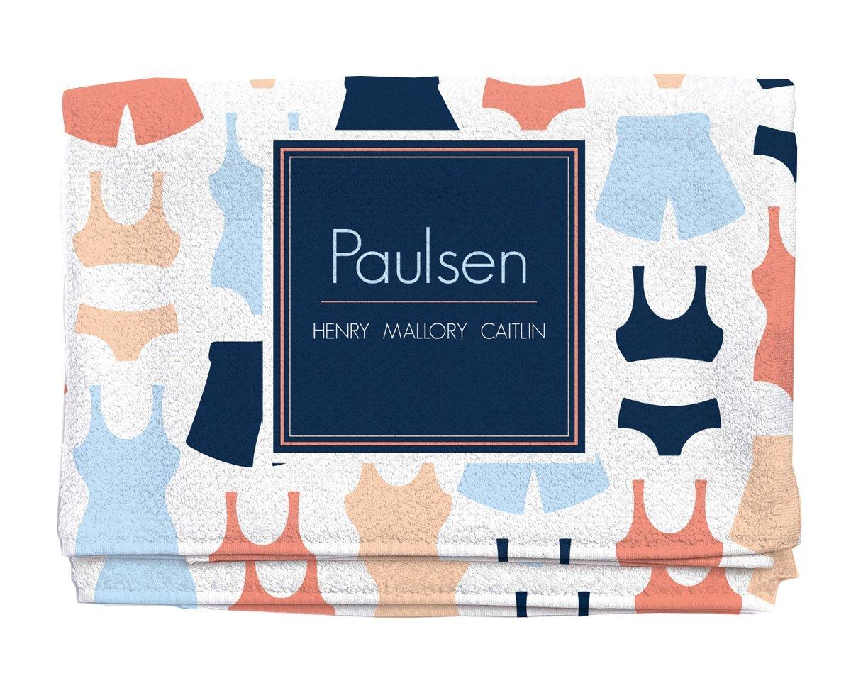 Swim Suit Ready Personalized Beach Towel | Kids Towels| Kids Towels | Custom Camp Towels | Custom Printed Towel | Monogrammed Pool Towel
