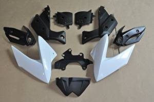 Wotefusi Brand New Motorcycle ABS Plastic Unpainted Polished Needed Injection Mold Bodywork Fairing Kit Set For Yamaha XJ6 2009 2010 2011 2012 White Base Color