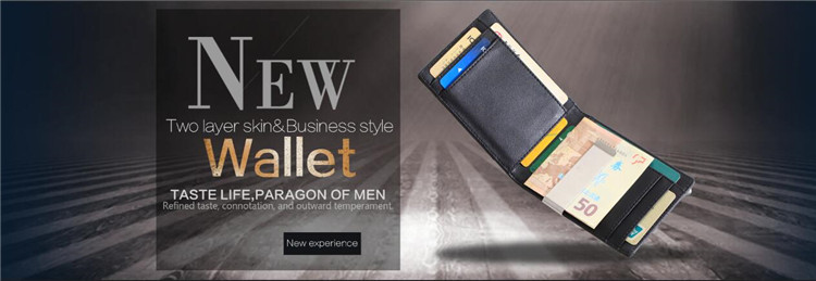 Newly branded Customized best brands men's leather minimalist slim wallet carbon fiber rfid wallet