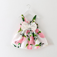 1 Year Birthday Dress Summer Baby Girl Dress Infant Princess Bow Sleeveless Party Dresses Baby Girl Clothes vestido infantil