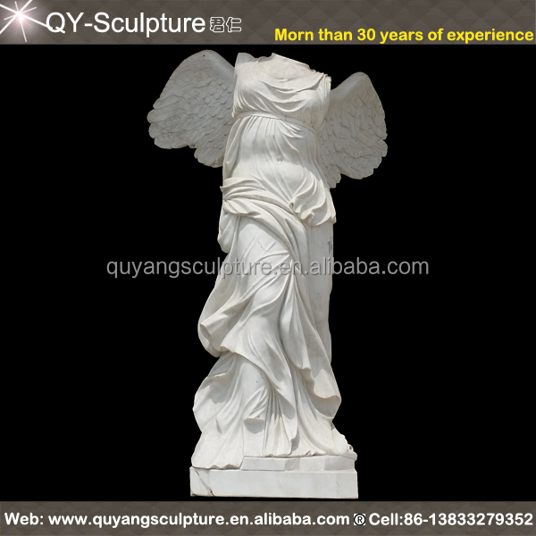 Greek Goddess Nike of Samothrace Sculpture Winged Victory Victoria Figurine