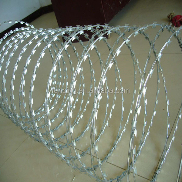 razor protecting fence system hot dipped galvanized Razor Barbed Wire
