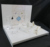 Custom made stylish white acrylic jewelry display stand