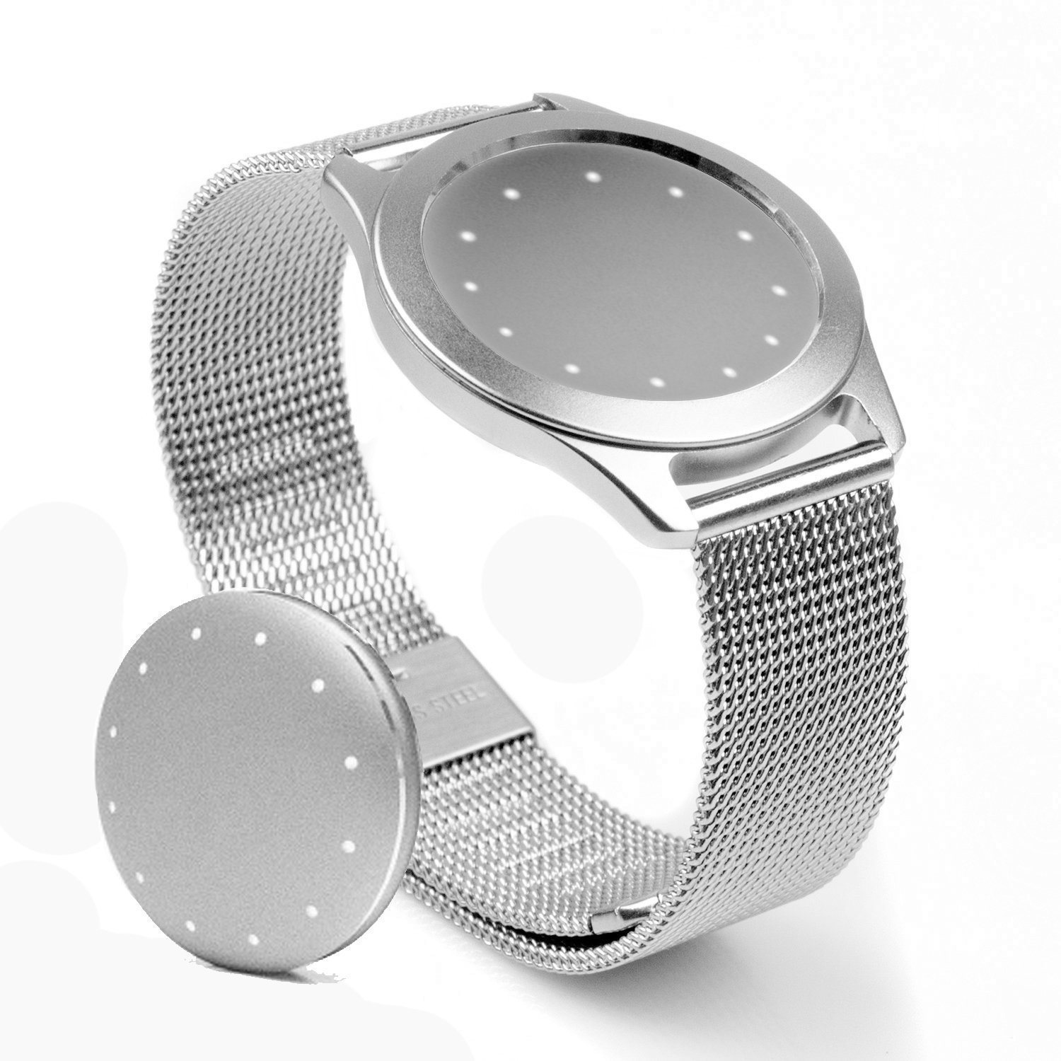 Misfit Shine Band Probrother® Milanese Strap Original with Buckle for Activity and Sleep Monitor Misfit Shine Watchbands Smart Watch Watchbands Silver