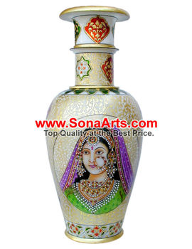 very attractive design flower vase. Large Vases with Rajasthan Lady painting work With Painting Work  Buy A Very