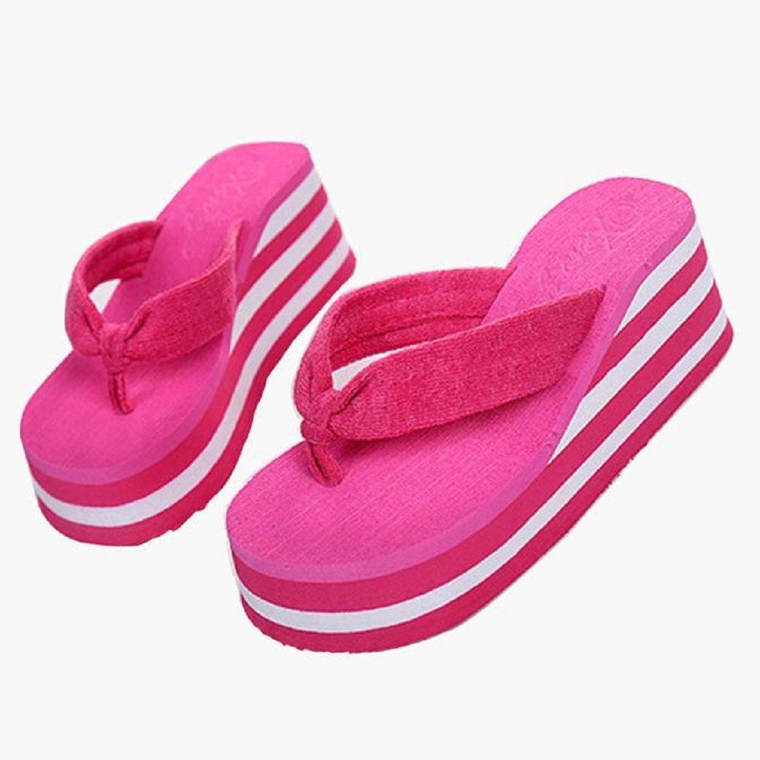 18b1bd47d446c2 Get Quotations · AutumnFall® Summer Women s Havana Wedge Flip-Flop